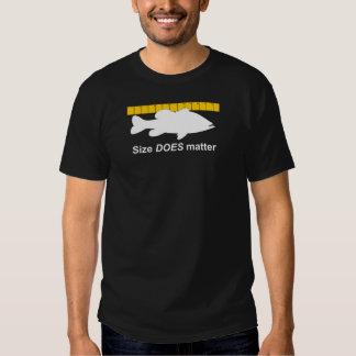 """Size Does Matter"" - Funny bass fishing T Shirt"