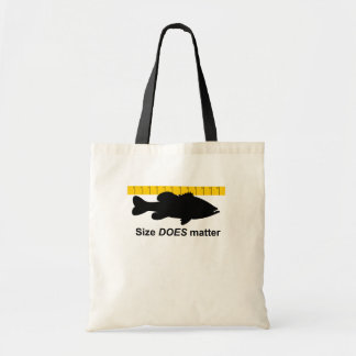 """Size Does Matter"" - Funny bass fishing Tote Bag"