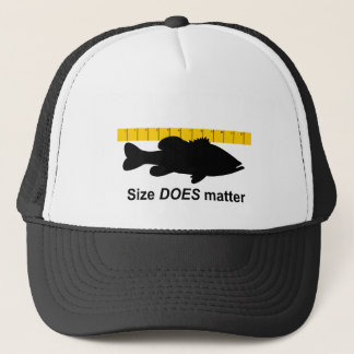 """""""Size Does Matter"""" - Funny bass fishing Trucker Hat"""
