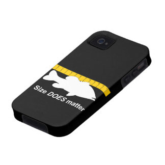 """Size Does Matter"" - Funny bass fishing Vibe iPhone 4 Cover"