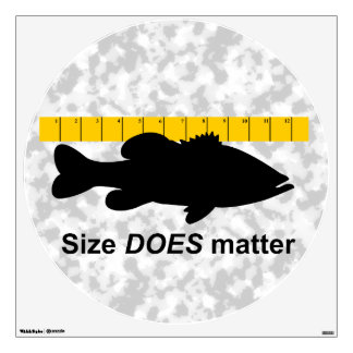 """Size Does Matter"" - Funny bass fishing Wall Sticker"