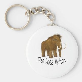 Size Does Matter Wooly Mammoth Basic Round Button Keychain