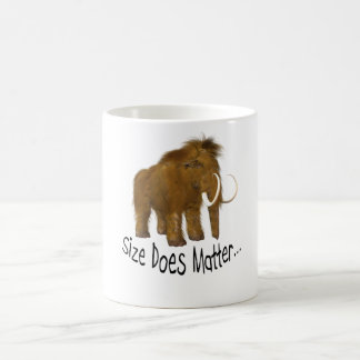 """Size Does Matter"" Wooly Mammoth Classic White Coffee Mug"