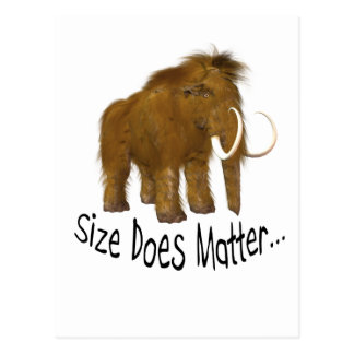"""""""Size Does Matter"""" Wooly Mammoth Postcards"""