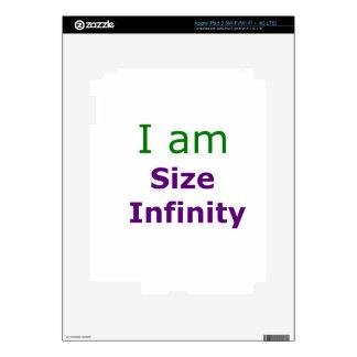 Size Infinity iPad 3 Skin