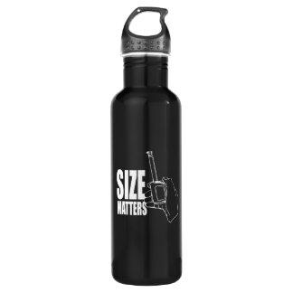 Size matters 24oz water bottle