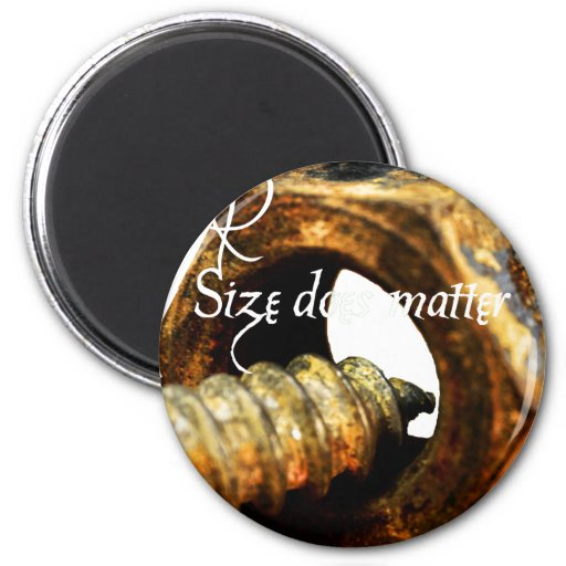 Size Matters 2 Inch Round Magnet
