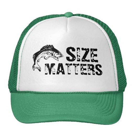 Size matters bass fishing hat zazzle for Bass fishing hats