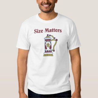 Size Matters Beer Stein Tee Shirt