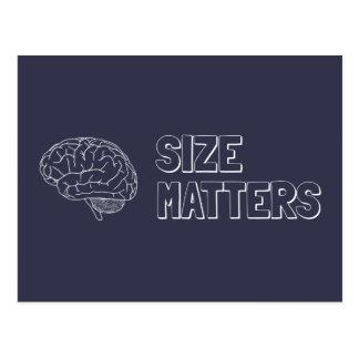 Size Matters Brain Joke Postcard