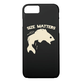 Size matters fishing humor iPhone 7 case