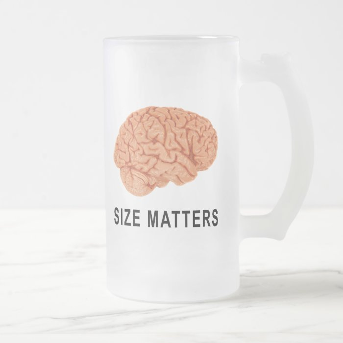 Size Matters Frosted Glass Beer Mug