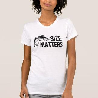 Size Matters! Funny Fish Jump Fishing Lady T-shirts