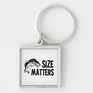 Size Matters! Funny Fishing Design Keychain
