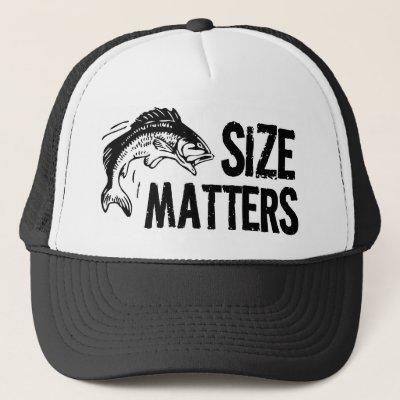 Size Matters! Funny Fishing Design Trucker Hat