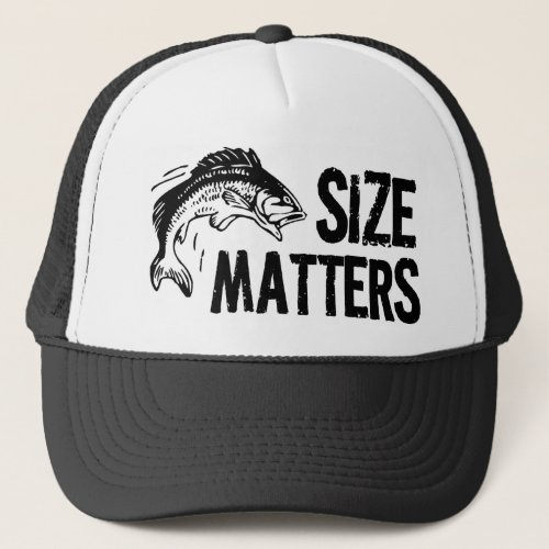 Size Matters Funny Fishing Design Trucker Hat