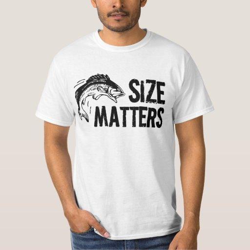 Size Matters Funny Fishing Design Tshirt Zazzle
