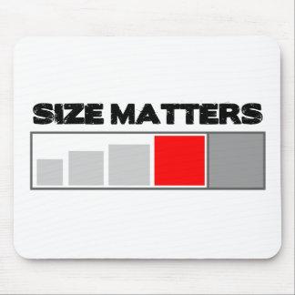 Size Matters - Geocaching Stuff Mouse Pad