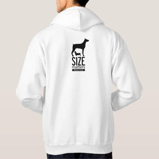 """Size Matters"" Hooded Sweatshirts"