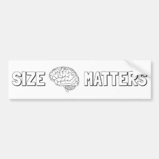 Size Matters - Intelligent Humor Bumper Sticker