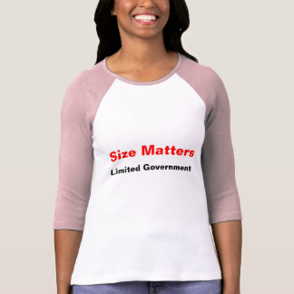 Size Matters Limited Government Womens Shirt