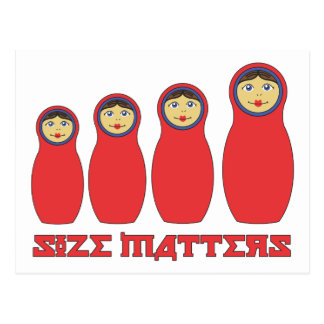 Size Matters Petrushka Card for well-hung Men
