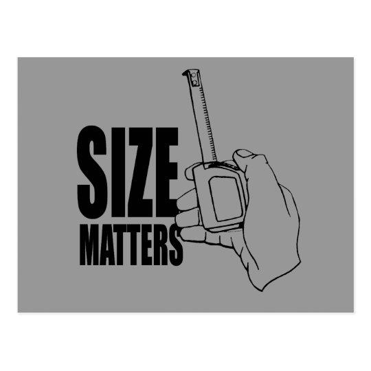 SIZE MATTERS POSTCARD