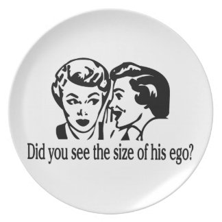 Size Of His Ego Retro Plate