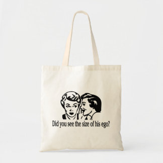 Size Of His Ego Retro Tote Bag