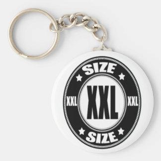 Size XXL Basic Round Button Keychain