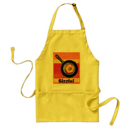 Sizzle, Pepper in Frying Pan Apron