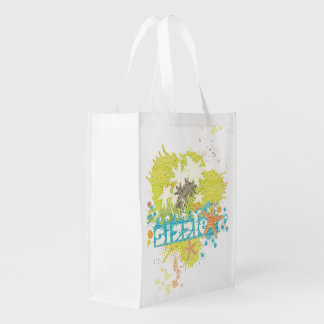 Sizzle retro summer grunge beach explosion grocery bags