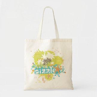Sizzle retro summer grunge beach explosion tote bag