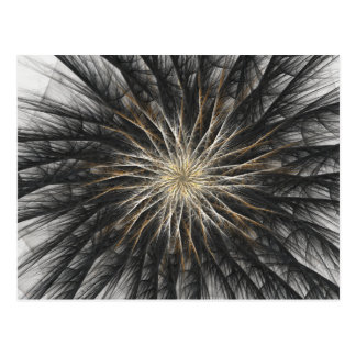 Sizzle Version 2 Fractal Abstract Art Postcard