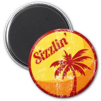 Sizzlin' 2 Inch Round Magnet