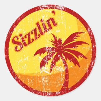 Sizzlin' Classic Round Sticker
