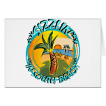Sizzlin In South Beach Greeting Card