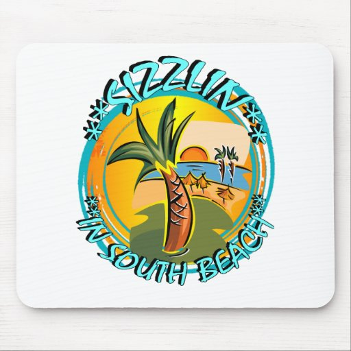 Sizzlin In South Beach Mousepads