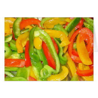 Sizzlin' Peppers Card