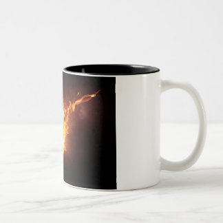 Sizzlin' soccer fan Two-Tone coffee mug