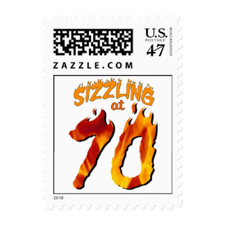 Sizzling At 70 Postage Stamp