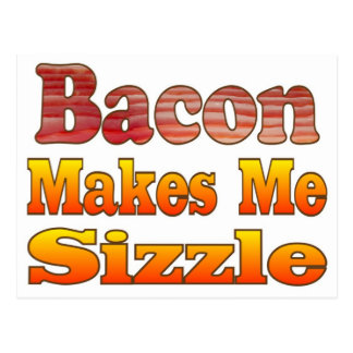 Sizzling Bacon Postcard