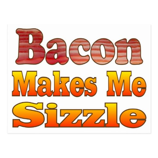 Sizzling Bacon Postcards