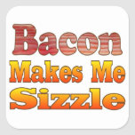 Sizzling Bacon Square Sticker