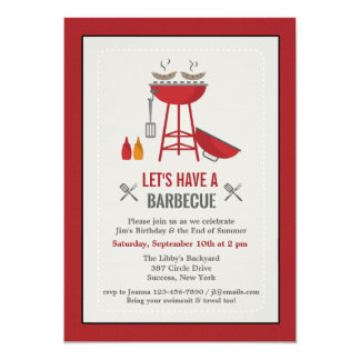 Sizzling BBQ Invitation