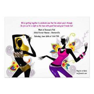 Sizzling Chicks Girl s Night Out Invitation