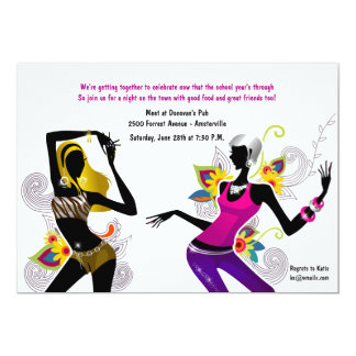 "Sizzling Chicks Girl's Night Out Invitation 5"" X 7"" Invitation Card"