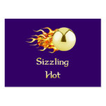 Sizzling Hot Pinball Large Business Cards (Pack Of 100)