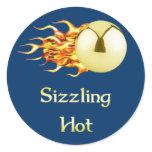 Sizzling Hot Pinball Classic Round Sticker