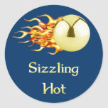 Sizzling Hot Pinball Round Sticker